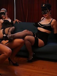 Lesbian Stockings Porn